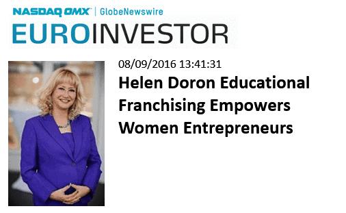 EUROINVESTOR- Helen Doron Educational Franchising Empowers Women Entrepreneurs