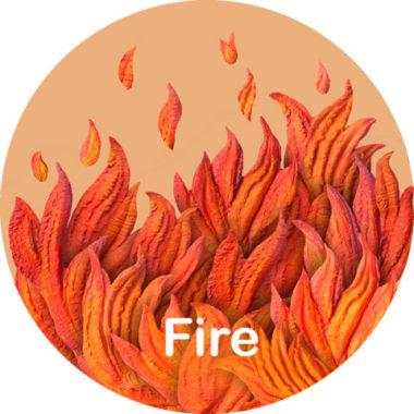 детский рисунок огонь