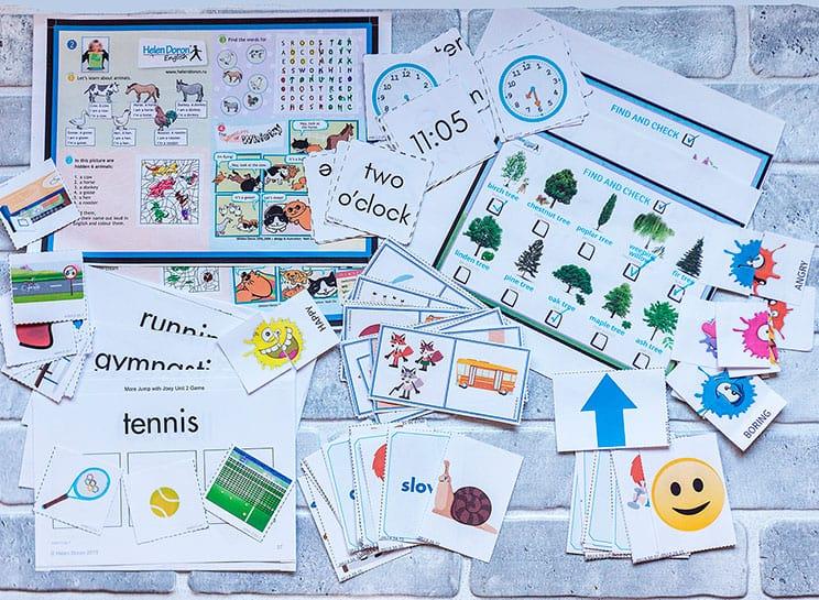 Развивающие шаблоны для домашнего обучения английским