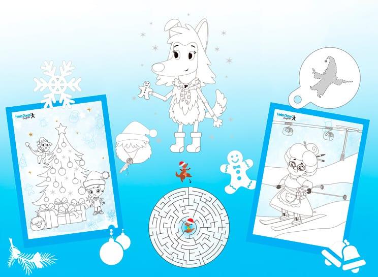 Детские развивающие материалы для зимнего досуга