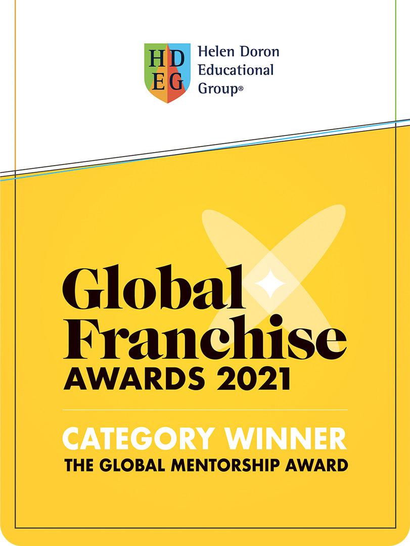 """И снова премия! В 2021 году наша компания получила престижную премию """"Наставничество"""" от Global Franchise Award"""